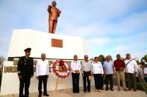 Rinden guardia de honor en el 129 Aniversario de Natalicio del Gral. Agustín Olachea