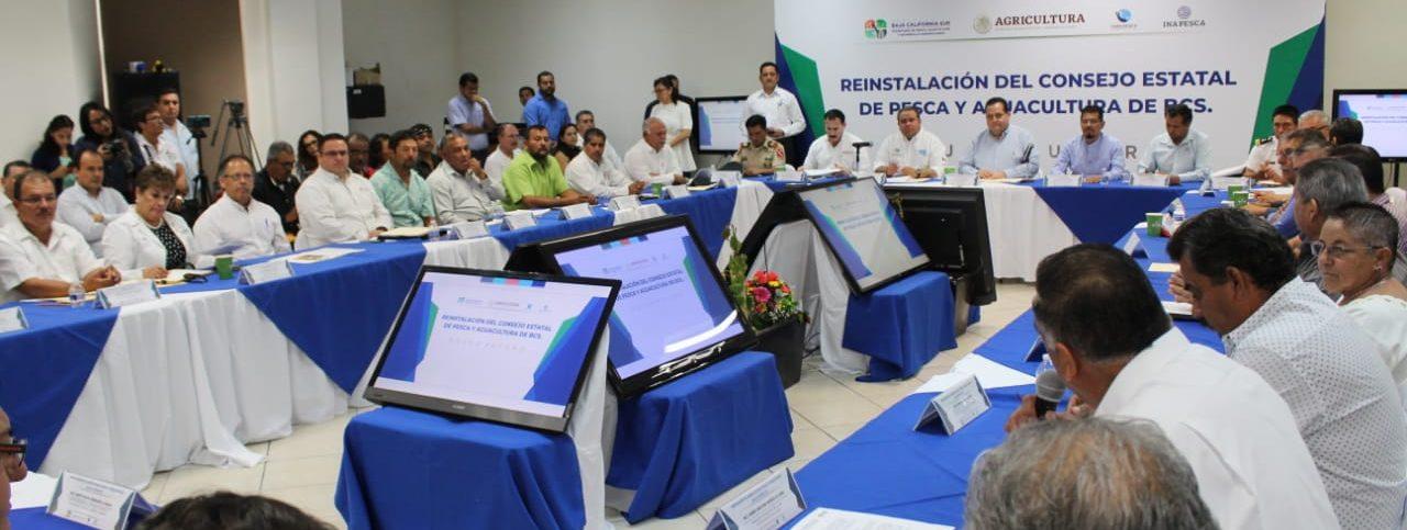 Encabeza Gobernador, reinstalación del Consejo Estatal de Pesca y Acuacultura.