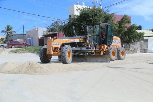 40% de avance en la rehabilitación de calles, caminos y avenidas en Los Cabos