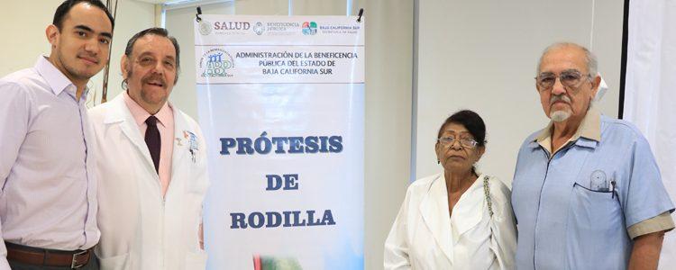SUDCALIFORNIANOS ACCEDIERON A PROTESIS DE RODILLA GRATUITA